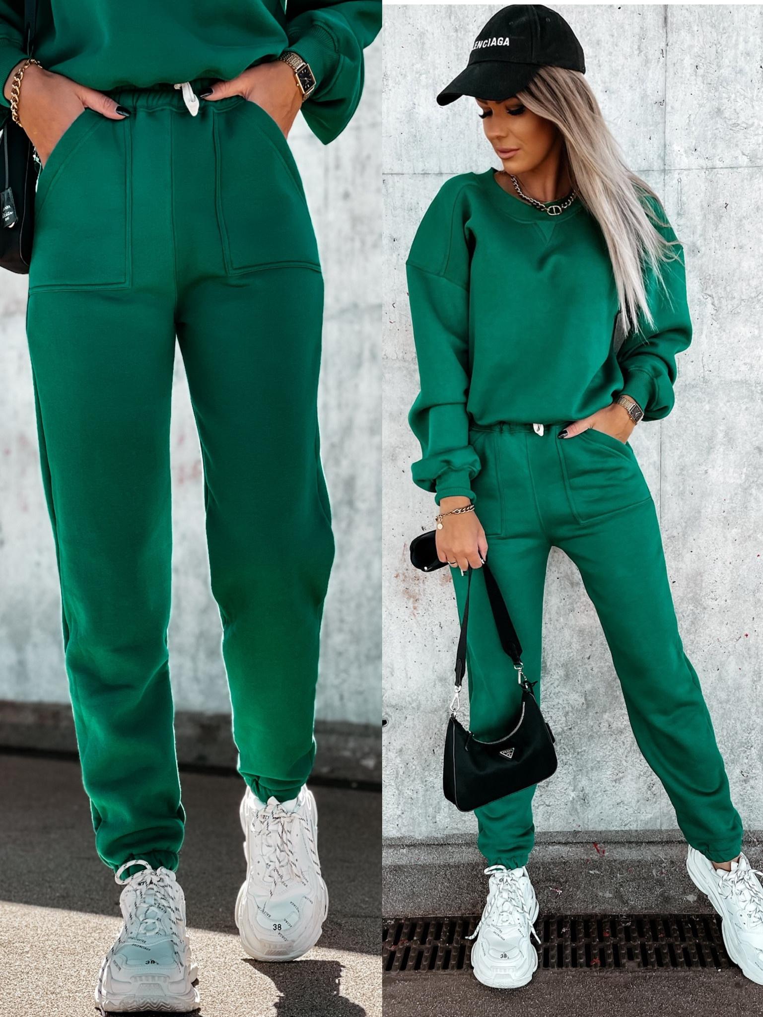 Spodnie Balance by Varlesca green