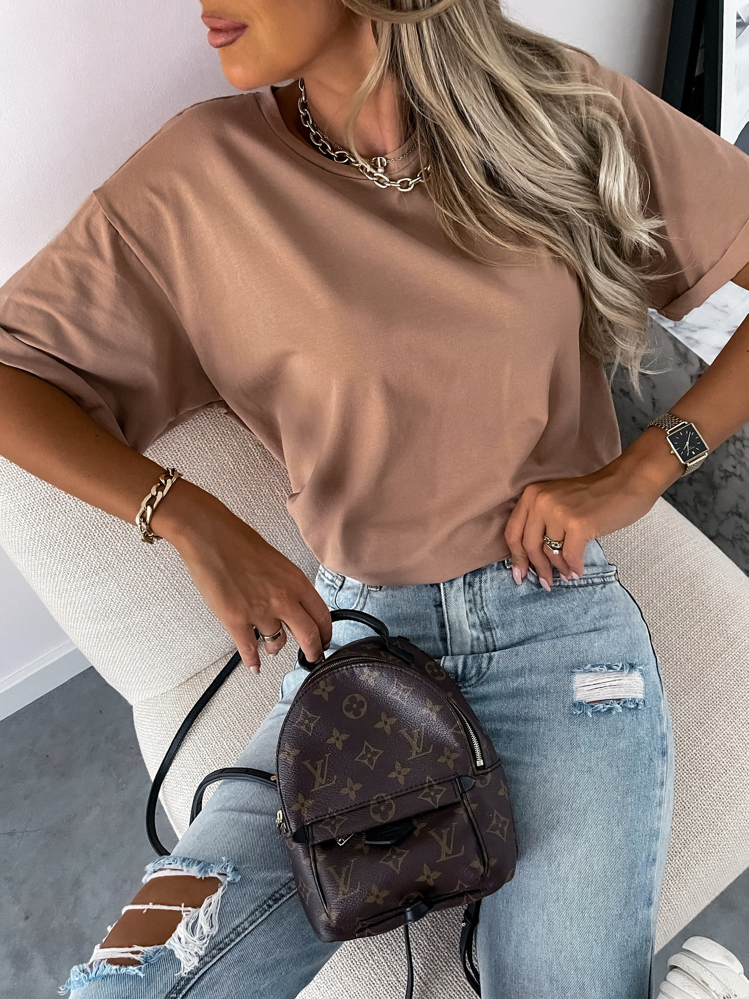 T-shirt Classic by Varlesca camel