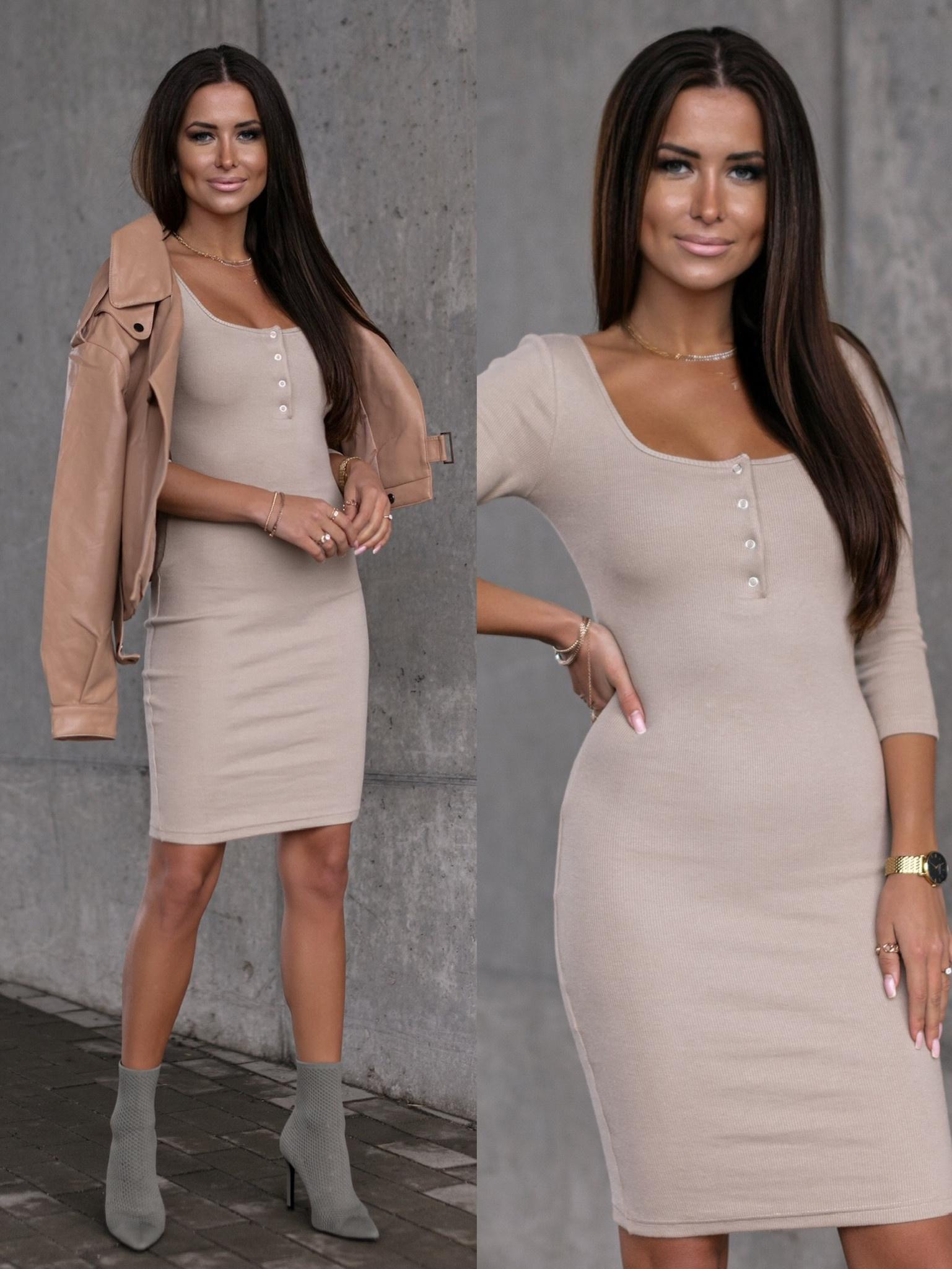 Sukienka Nelie II by Varlesca beige