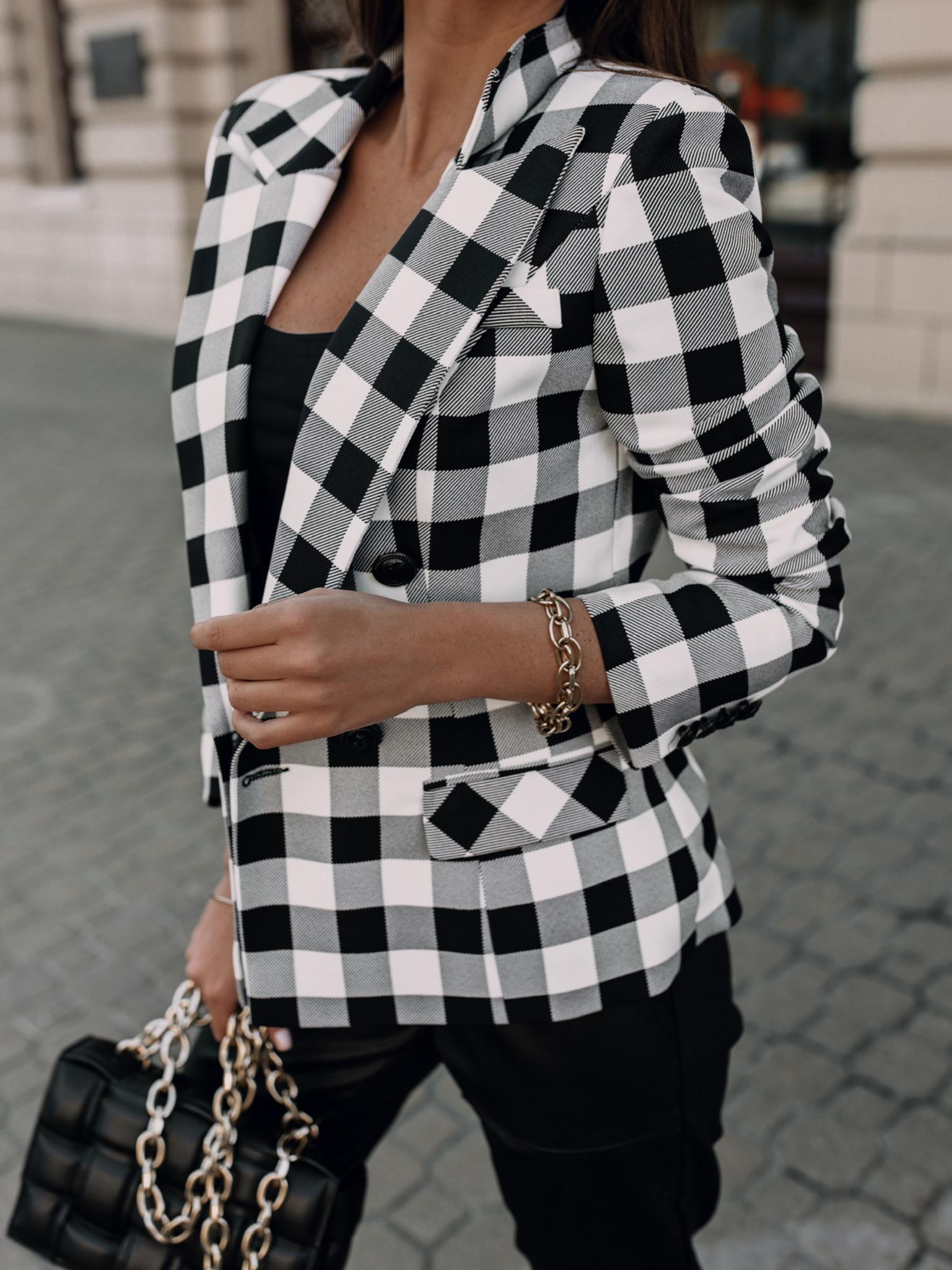 Marynarka Besson square black/white