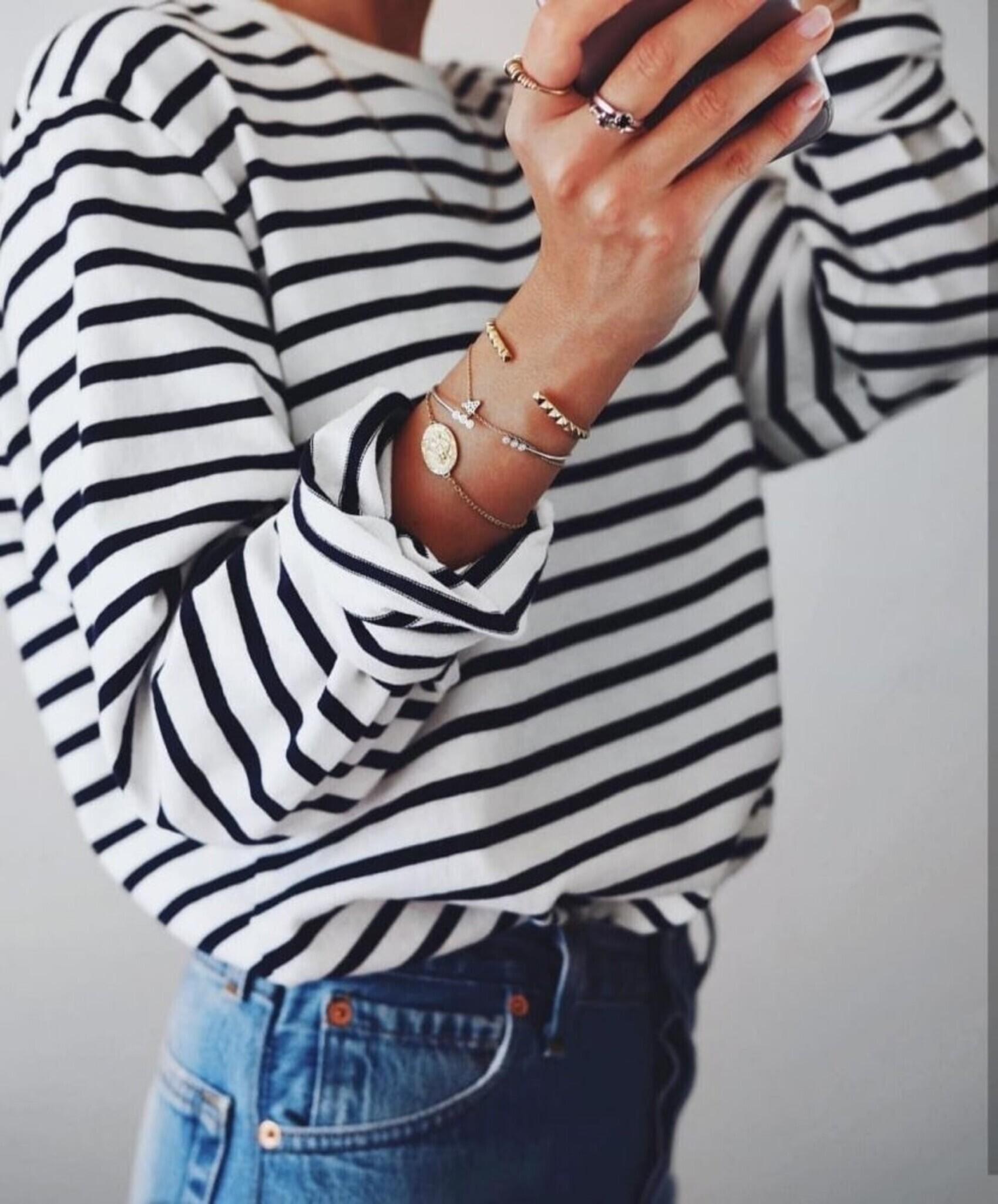 Bluzka Basic Stripes by Varlesca black