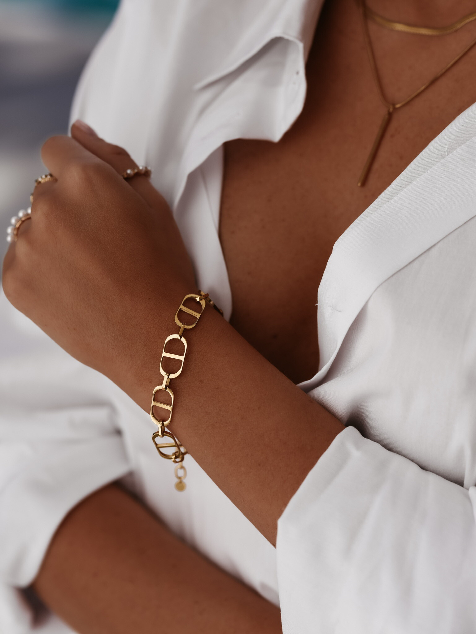 Bransoletka nr 344 Big Bral Chain Gold