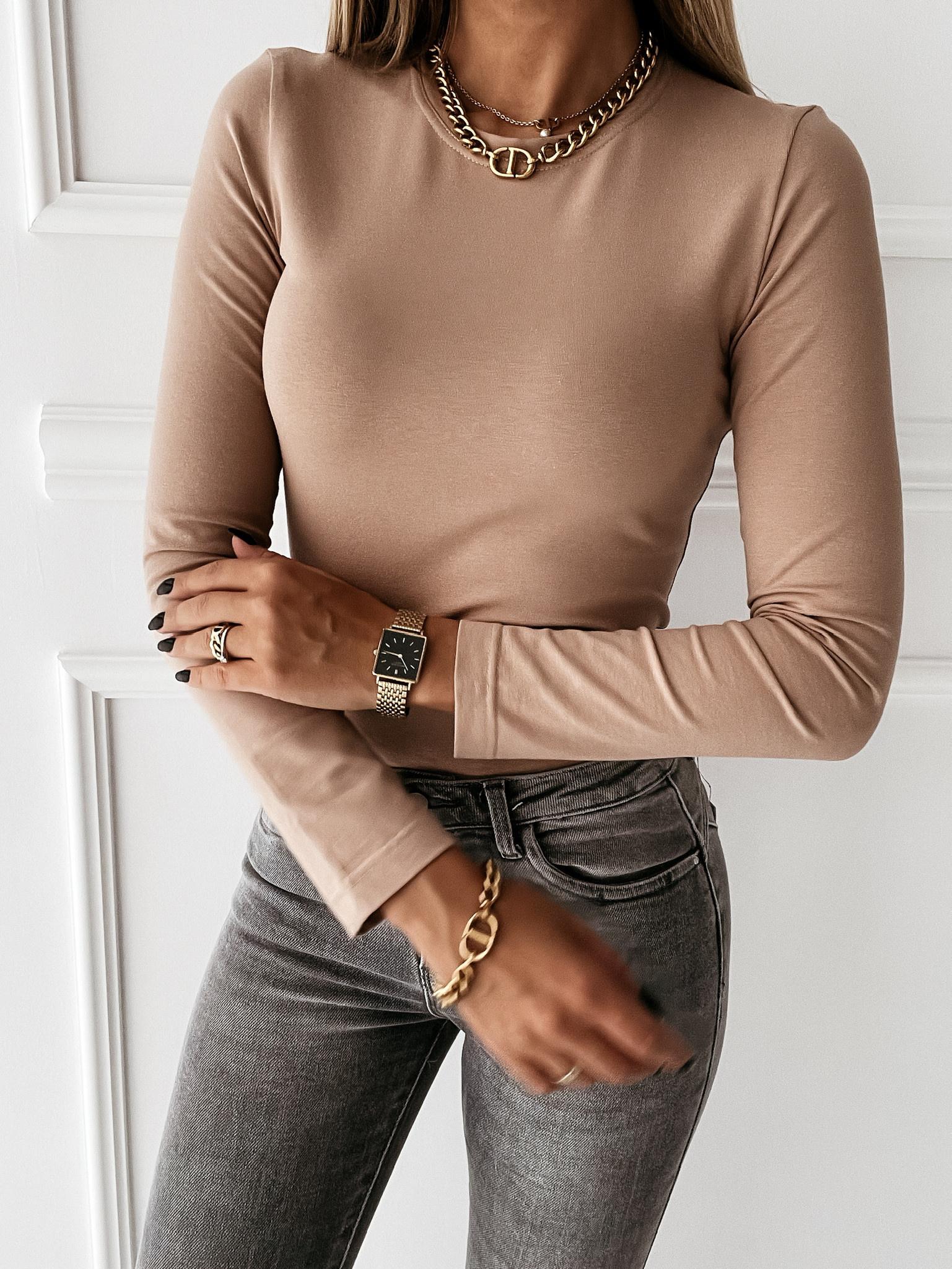 Bluzka Classic long sleeve by Varlesca beige