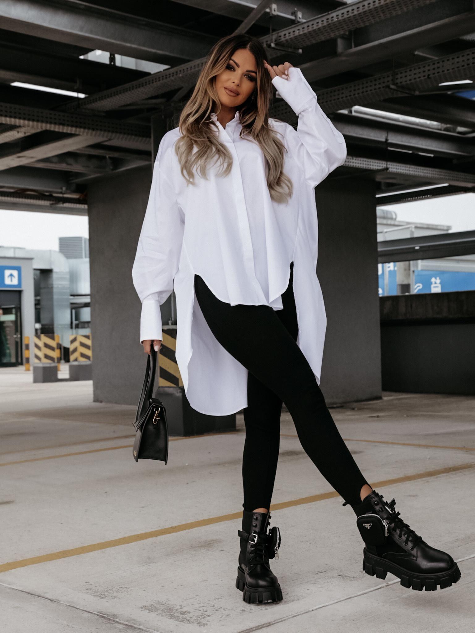 Koszula Lottie asymmetric white
