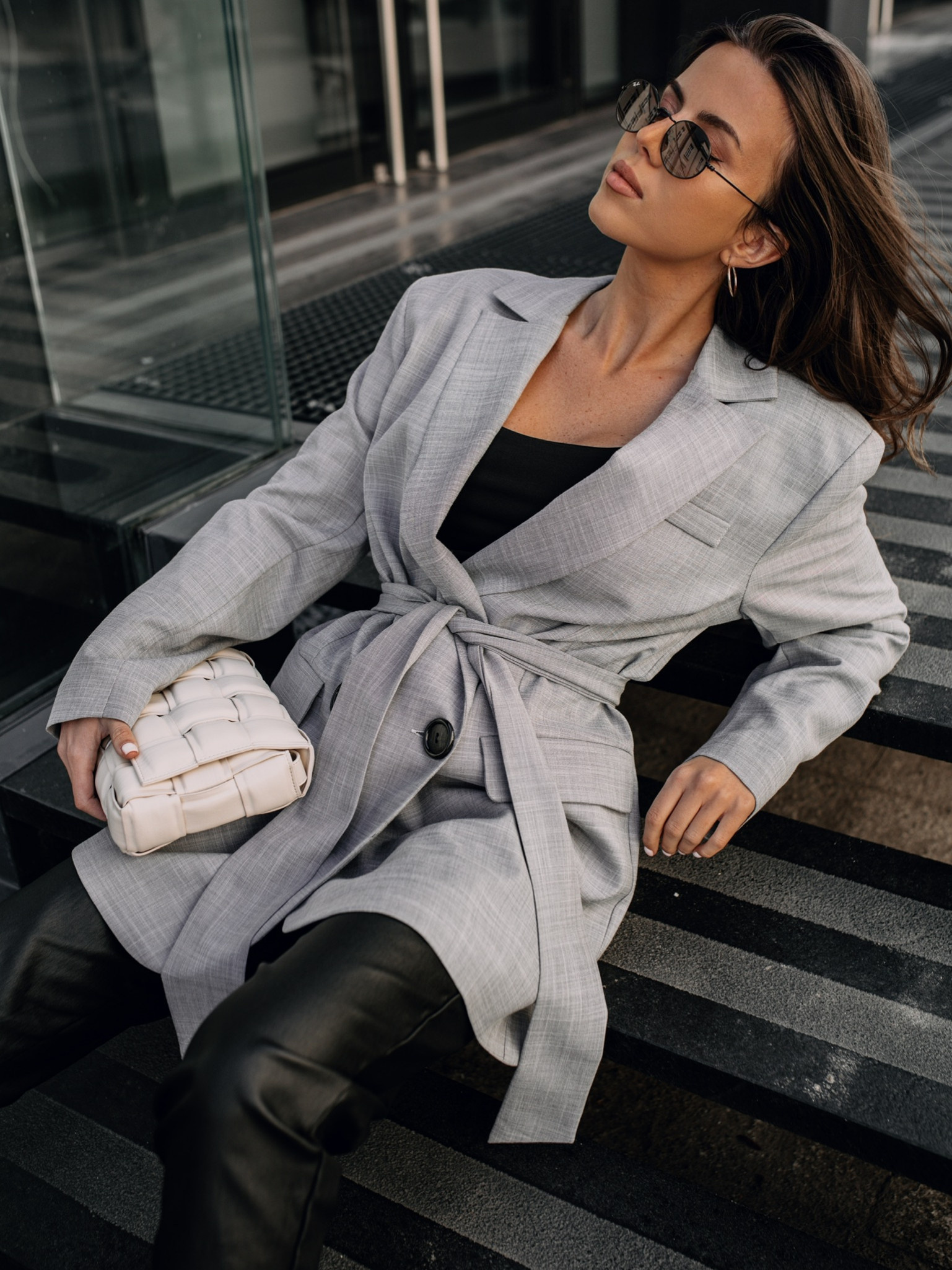 Marynarka High Fashion grey