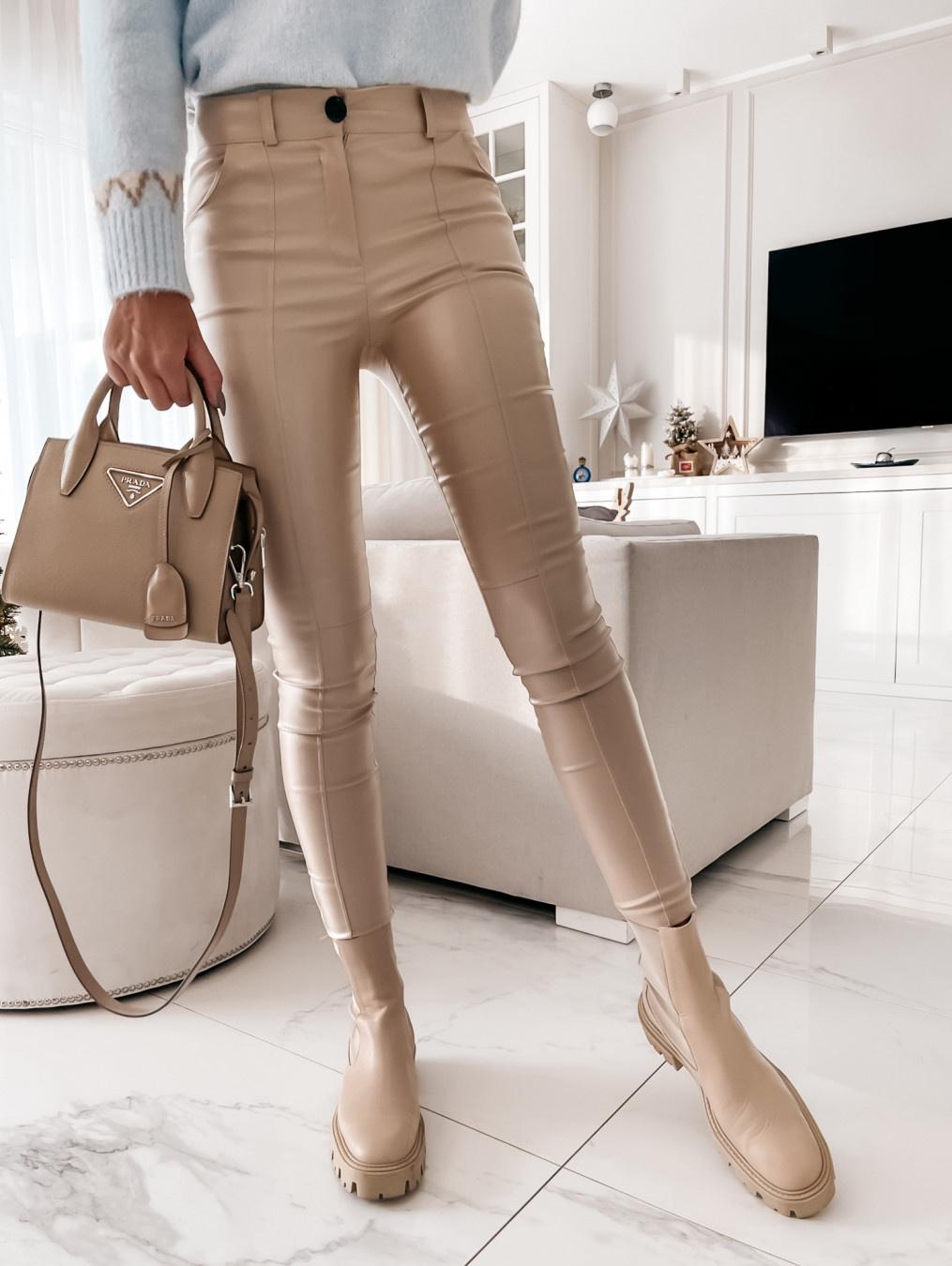 Spodnie Elliott woskowane beige