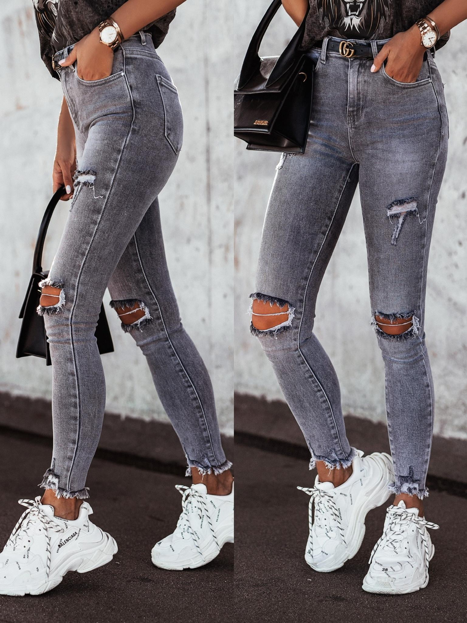 Spodnie Steve jeans ripped RD6920 grey