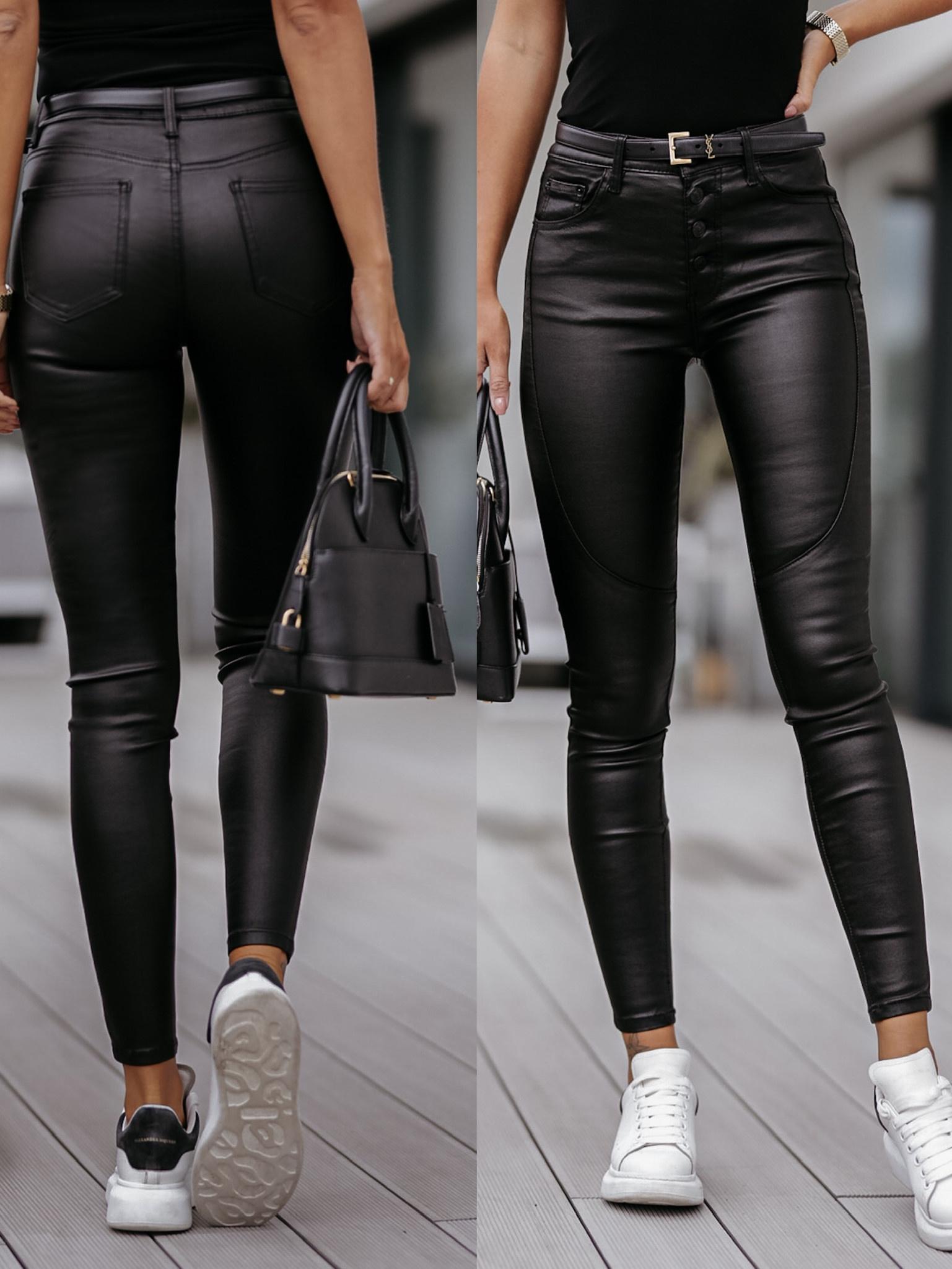 Spodnie Rino woskowane 2328-T black