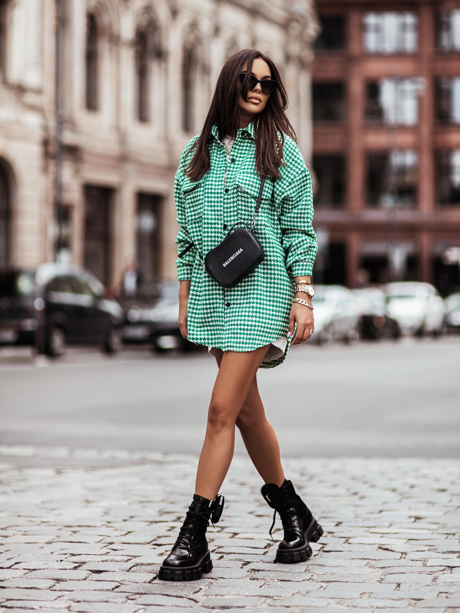 Jacket Ammos pepitka green/white