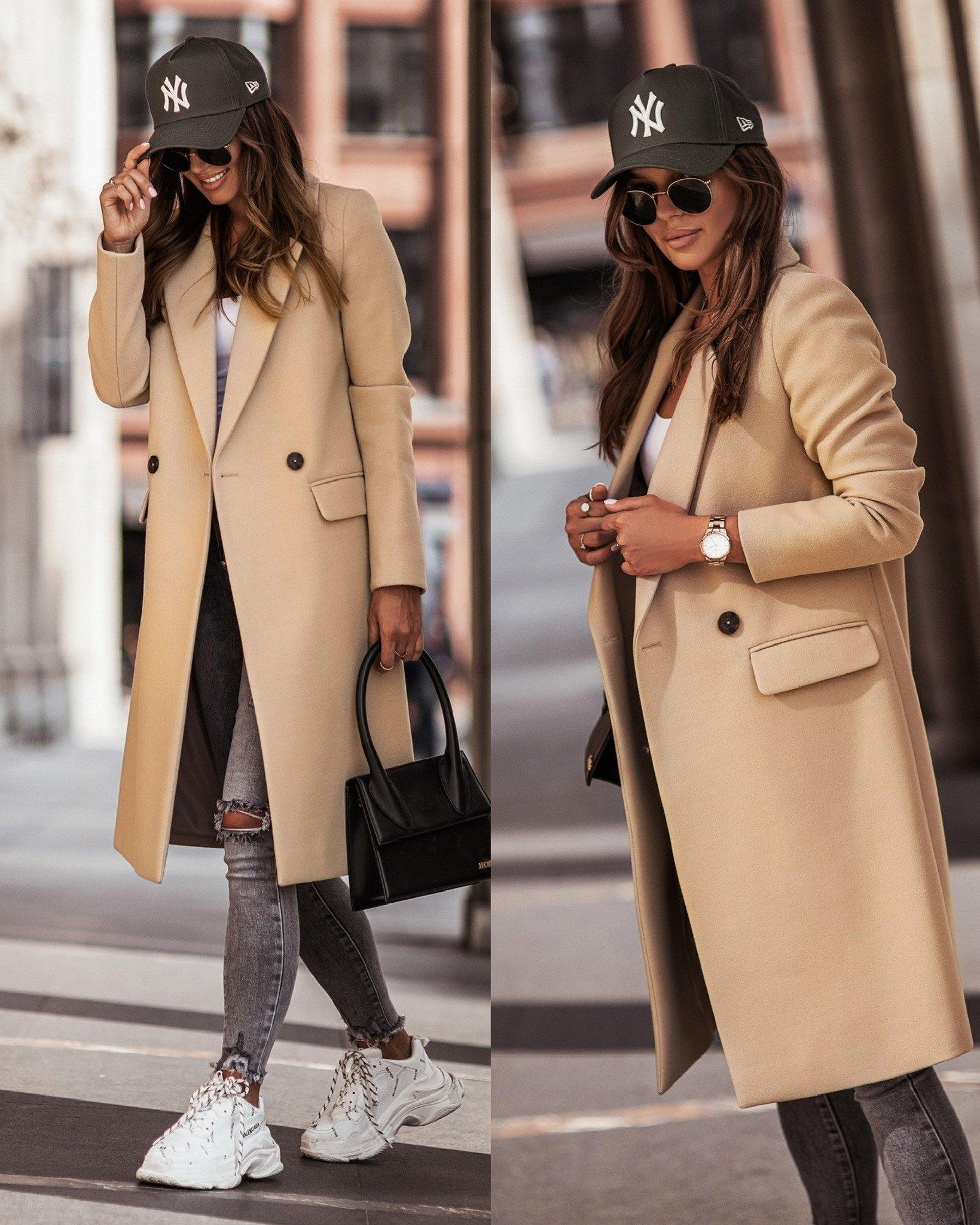Płaszcz Corrido by Varlesca dark beige