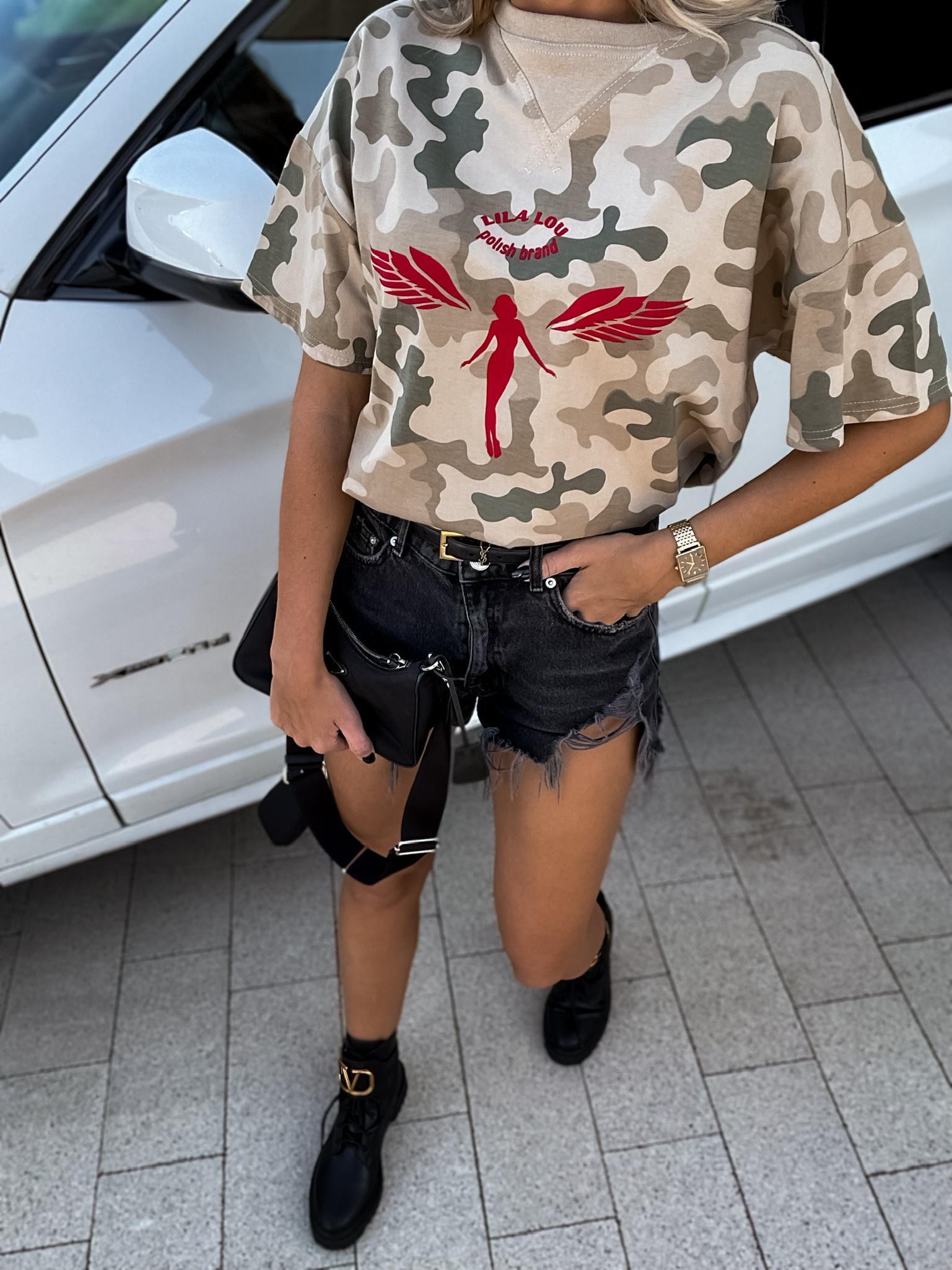 T-shirt Angel Girl khaki