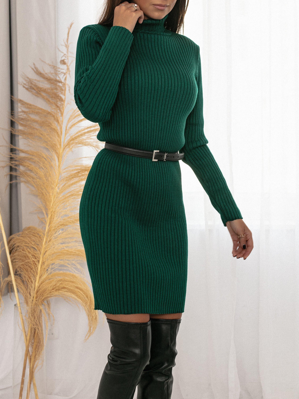 29.10 Sukienka Sheryl butelkowa zieleń