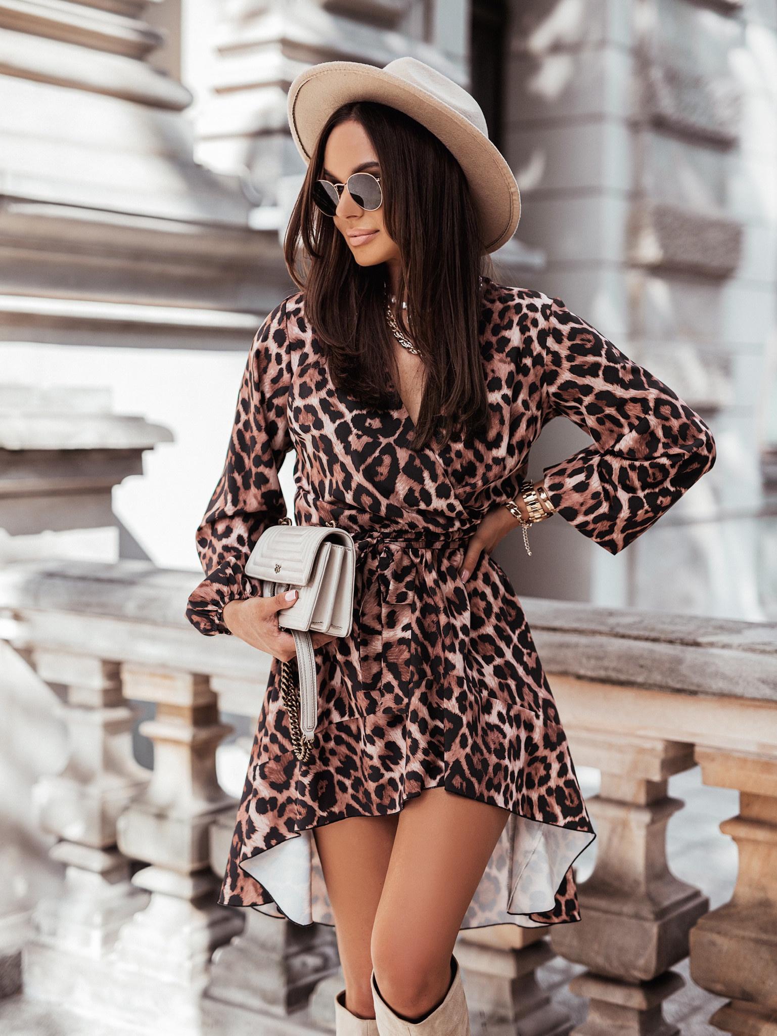 Sukienka Lana by Varlesca panters brown