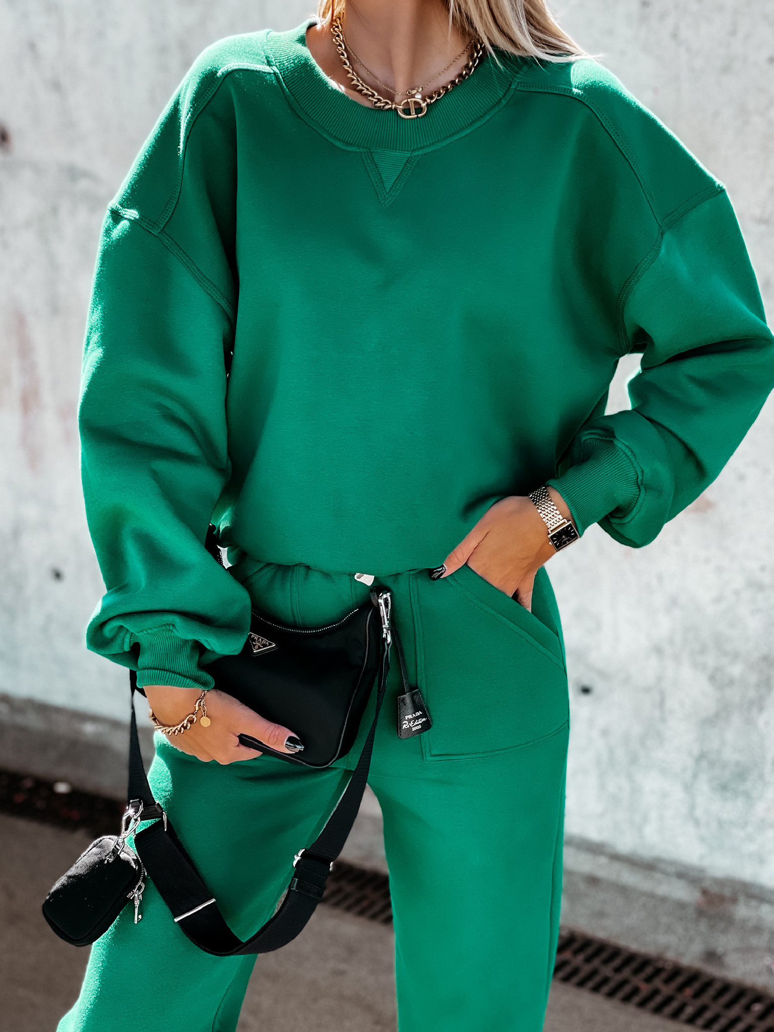 Bluza Balance by Varlesca green